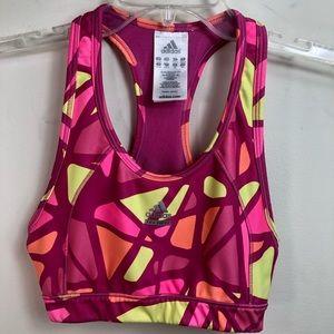 Adidas pink sports bra size S